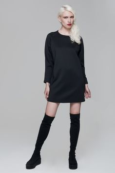 Cocoon Dress black BLACKBLESSED  @Black Blessed #black #white #fashion #minimal #basic #elegant #designer #urban #urbanchic #dresses #pants #tshirt #top #leggings #white #simple #simplicity