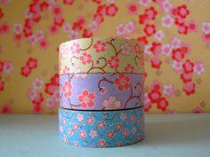 """Washi Tape mini tower """"Sakura"""" Set of 3 .....Scrapbooking, Paper Crafts, Gift Wrapping....."""