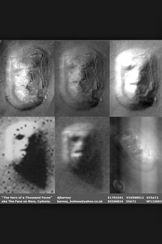 Face on Mars -- Cydonia  The book gave this example of how our mind likes to see faces.  A low resolution picture of MArs made people believe that life existed on that planet when in fact, a high resolution picture showed it was just a face-shaped rock.