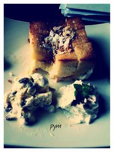 Ice-cream with honey toast