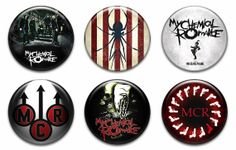 My Chemical Romance Pinback Buttons Badges Pins Set 1 by PinbackCo, $4.99