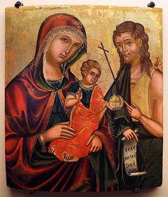 File:Pittore cretese, madre della consolazione e s. giovanni battista, xvii secolo.jpg