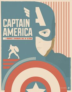"""Captain America"" by Matt Needle Marvel's Avengers: Age of Ultron Art Showcase now open at Hero Complex Gallery"