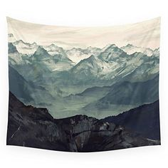 "Society6 Mountain Fog Wall Tapestry Medium: 68"" x 80"" Society6"