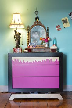 Not your Mother's chest of drawers accessorized #storage #bedroom