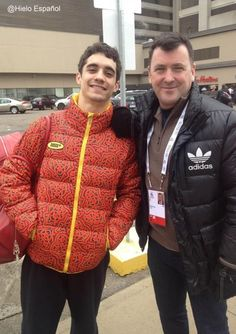 Javier Fernanndez(Spain) and Brian Orser(coach) : World Figure Skating Championships 2013 in London(CANADA)