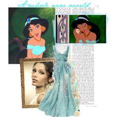 """""""Freida Pinto as Jasmine"""" by violetta-valery on Polyvore"""
