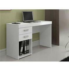 Escrivaninha Politorno Malta Branco - 117102 - Mesas para Computador e Escrivaninhas no CasasBahia.com.br