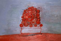 """huariqueje: """" Cherries II - Phillip Guston 1976 French Oil on canvas """" Action Painting, Figure Painting, Painting & Drawing, Tachisme, Richard Diebenkorn, Jackson Pollock, The Joy Of Painting, Art Walk, Contemporary Paintings"""