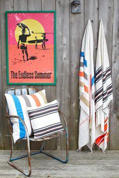 turkish towels & poster for hudson