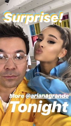 Ariana Grande and Jimmy Fallon