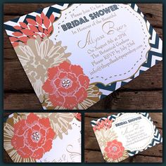 10pack Beautiful Floral Bridal Shower/ Party by InvitationsbyJenna, $15.95