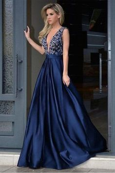 Os modelos mais lindos de vestidos de festa azuis - Inspiredresses