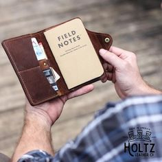 The Logbook | Fine Leather Field Notes Wallet
