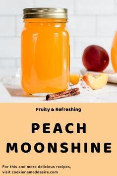 Peach Ice Tea, Peach Juice, Cocktail Recipes, Drink Recipes, Dessert Recipes, Peach Moonshine, White Wine Sangria, Everclear, Peach Schnapps