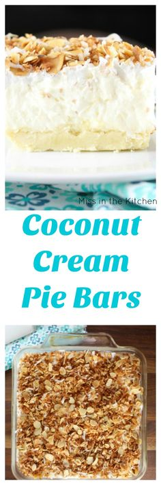 ... Coconut on Pinterest | Coconut, Coconut Cream Pies and Coconut Cookies