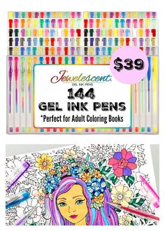 ULTIMATE SET OF 144 GEL PENS IN 72 UNIQUE COLORS: Incredible vibrant and bold…