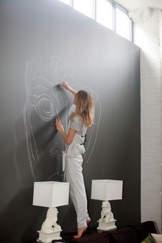 blackboard. wall.