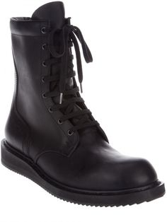 Rick Owens Combat Boots