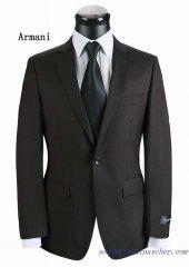 Costume à un bouton Armani Hommes Moka Costume, Suit Jacket, Breast, Suits, Moka, Jackets, Fashion, Black Man, Button