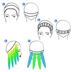 Pravana Chromasilk Neons Blue Tutorial - All For Hair Cutes Hair Color Guide, Hair Color Formulas, Vivid Hair Color, Hair Dye Colors, Make Up Creme, Hair Color Placement, Hair Dye Tips, Aveda Color, Neon Hair