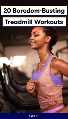 Next time you decide to take your run indoors, give one of these 20 treadmill workouts a try. They'll not only keep boredom at bay, they'll also give you a fast, efficient workout. Tread on! Fitness Workouts, Treadmill Workouts, Fitness Tips, Fitness Routines, Body Workouts, Lose Weight In A Month, How To Lose Weight Fast, Cardiovascular Activities, Benefits Of Cardio