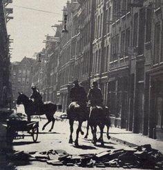 Oproer Jordaan Amsterdam 4 juli 1934 (Als protest tegen de aangekondigde verlaging van de werkloosheidsuitkering