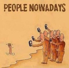 Many people care about getting things on video or getting a picture of it so that they can show their friends, post it on social media, or just to have. The problem is that they are so caught up in this that they don't realize what is happening outside in the real world. This uses Horatian satire.