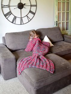 If you're a mermaid trapped living in a human body you need one of these amazing crocheted mermaid tail blankets by creative artist  Melanie Campbell. Forget turning into a couch potato this winter. Instead, you can transform into a couch mermaid—which is far more fabulous than any silly potato ...