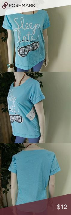 Hue Short Sleeve Pajama Top? Hue Short Sleeve pajama Top, size small, color aqua blue, short sleeve, round neck, made of polyester and cotton blend comes new with tag as closeout merchandise, it was part of a set that was separated, good cosmetic condition. HUE Intimates & Sleepwear Pajamas
