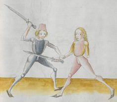 Lecküchner, Hans: Kunst des Messerfechtens Nordbayern, 1482 Cgm 582 Folio 219
