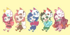 Read Chibi from the story Imágenes random de Kimetsu no Yaiba by (Mino UwU) with reads. Chibi Anime, Chica Anime Manga, Fanarts Anime, Kawaii Anime, Slayer Meme, Demon Slayer, Anime Angel, Anime Demon, Fan Anime