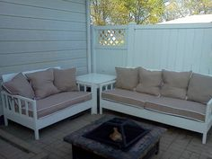 Ana White | Simple White Outdoor Sofa and Loveseat - DIY Projects