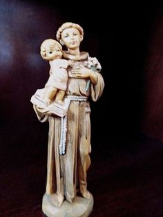 Vintage Fonatinin Saint Anthony with child and book - FIGURINE - 4.5 inch #257