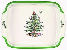 Spode Christmas Tree Rectangular Handled Dish ^^ Additional details at the pin image, click it  : Bakers and Casseroles