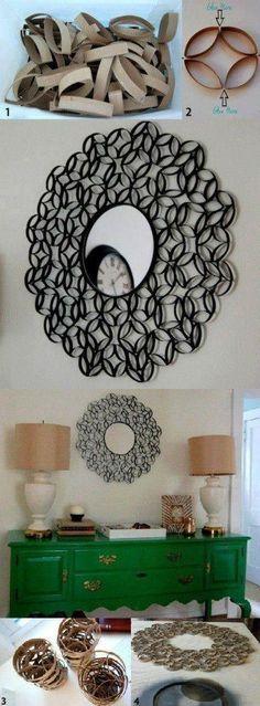 Wall Art Using Toilet Paper Rolls   DIY Fun Tips