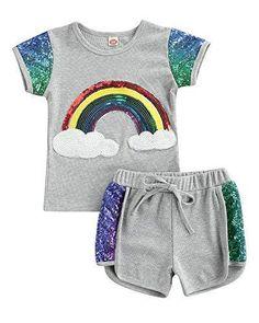 Girls Summer Outfits, Short Outfits, Toddler Outfits, Summer Girls, Girl Outfits, Summer Clothes, Short Niña, Knit Shorts, Cute Baby Girl