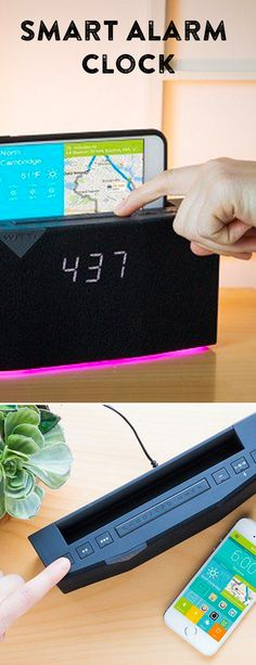Drift off to white noise and wake up with gradual light, your favorite song, a traffic report, a charged phone . . . this alarm clock is full of custom features.