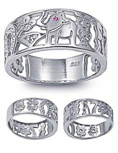Rhodium Plated Sterling Silver Wedding & Engagement Ring Ruby Eye Lucky Ring Elephant 8MM ( Size 5 to 10) Double Accent. $23.99. Comes with Beautiful Jewelry Case; Nickel Free. Hypoallergenic; 925 Sterling Silver; Prompt Shpping