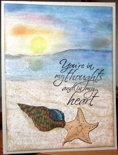 IC514, Shells_vg by Vicky Gould - Cards and Paper Crafts at Splitcoaststampers - her inspiration: https://www.pinterest.com/pin/379146862357366979/