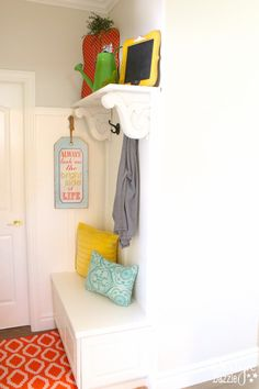 DIY Mini Mudroom Nook. Step-by-step instructions on how to create a mini mudroom nook in your home. | Design Dazzle