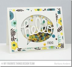 Desert Bouquet, Friends Like Us, TRANSFORM-ables Say Hello Die-namics - Barbara Anders  #mftstamps