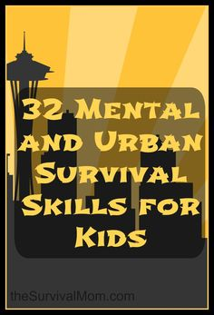 Although these are listed as urban survival skills, the truth is they are relevant for most kids living a modern life, not just those in cities. Some of these, particularly escape and evasion, aren't things most of us need in daily life (sibling issues aside), but kids should use and practice most of these skills in their regular daily life.