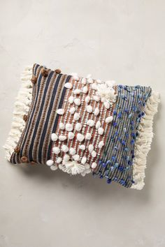 Collaboration with ALL ROADS Collaged Majida Pillow - anthropologie.com