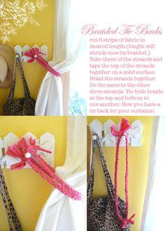 easy curtain tie backs