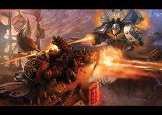 Raven Guard vs. Chaos - Warhammer 40K:Deathwatch by jubjubjedi.deviantart.com