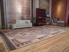 Large Afghan Kilim | From a unique collection of antique and modern central asian rugs at https://www.1stdibs.com/furniture/rugs-carpets/central-asian-rugs/