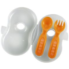Soft Cutlery for On The Go Meals #babytravel #babyfood #babyspoon