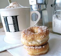 homemade donuts, the super easy cheater way. This is the way I used to make them as a kid!