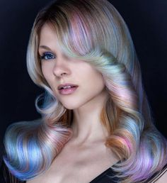 Want subtle unicorn hair? Opal Hair is the trend for you!
